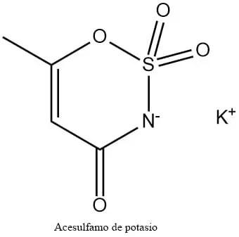 Estructura 2D del acesulfamo K