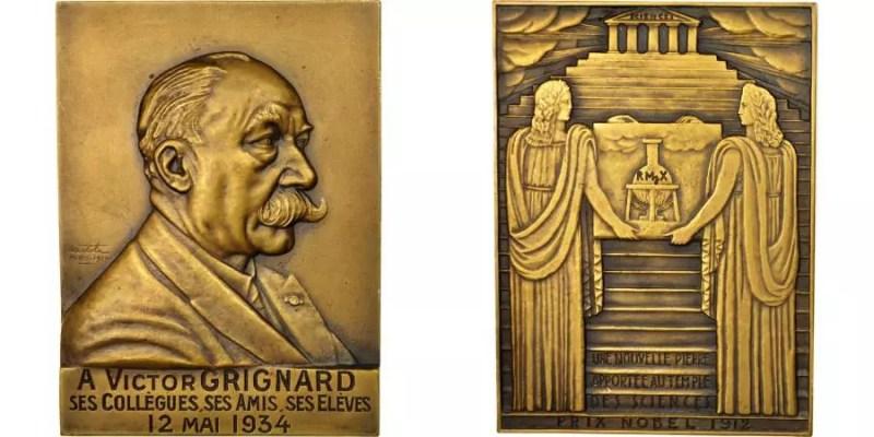 Medalla conmemorativa premio Nobel de Victor Grignard 1934