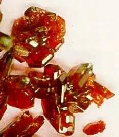 Cristales de cloruro de hexaaminocobalto (III)