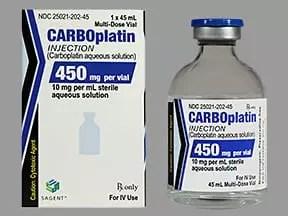 Presentación del carboplatino