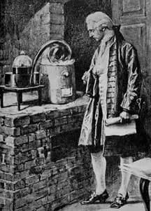 Lavoisier observando un experimento