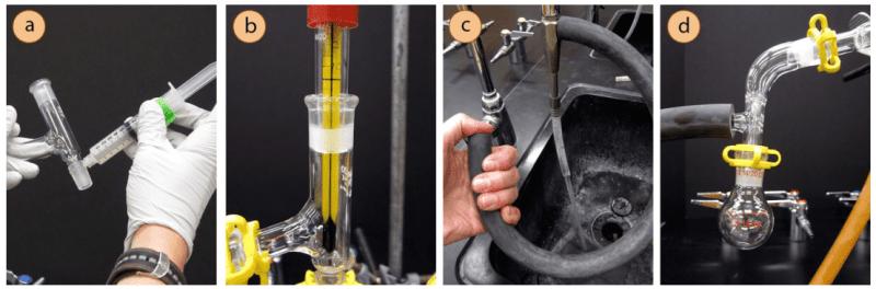 Detalles montaje destilación al vacio