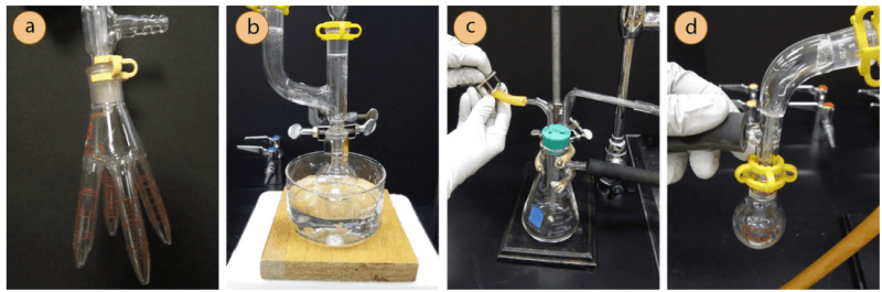 Detener destilación al vacío