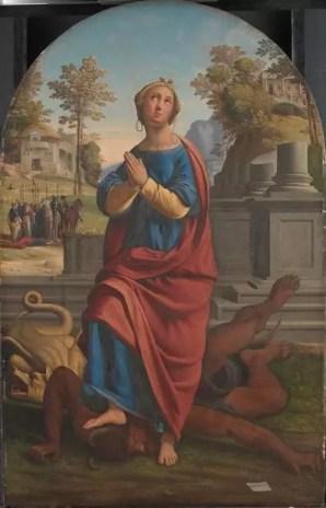 Santa Margarita de Giovanni Batista Benvenuto. Galería Nacional de Dinamarca.