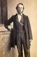 Carl Graebe, 1860, durante sus días de estudiante con los colores de la fraternidad de Karlsruhe Teutonia