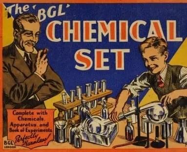 Portada de un set químico de BGL. La calidad de las ilustraciones era y es un factor clave para atraer la atención de niños y adultos.