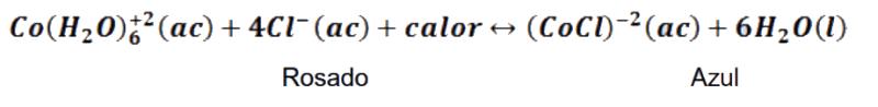 Equilibrio químico empleado para el estudio del efecto de la temperatura en el equilibrio químico