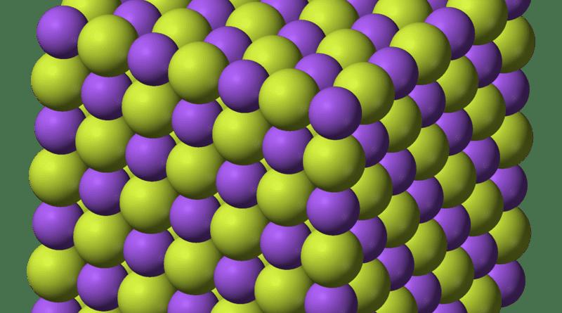 Estructura cristalina del fluoruro de sodio