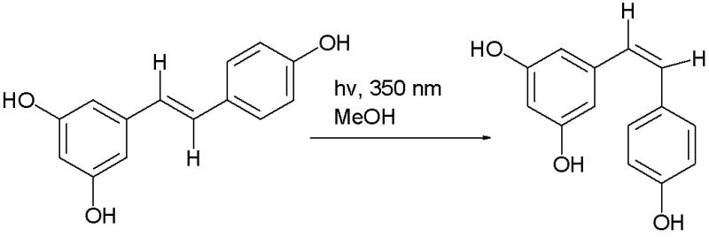 Fotoisomerización del resveratrol