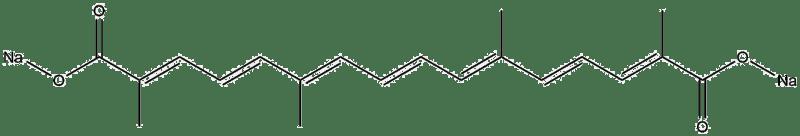 Estructura 2D del transcrocetinato de sodio