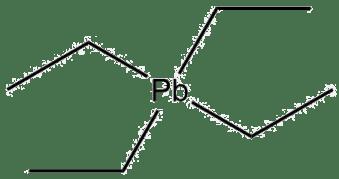 Estructura 2D del tetraetilo de plomo