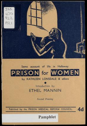 Folleto escrito por Kathleen Lonsdale sobre la reforma penitenciaria en 1943