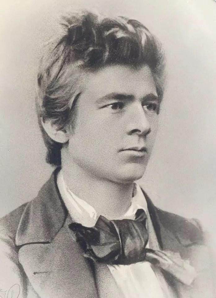 Peter Waage en 1861, posiblemente una foto de su boda