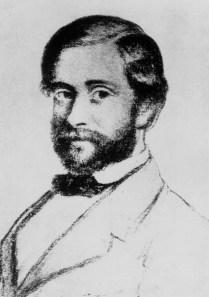 Stanislao Cannizzaro a la edad de 32 años, según un dibujo de Demetrio Salazzaro.