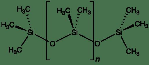 Estructura 2D de la unidad de la dimeticona o PDMS