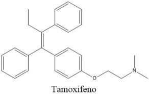 Estructura 2D del Tamoxifeno