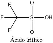 Estructura 2D ácido tríflico o ácido trifluorometanosulfónico