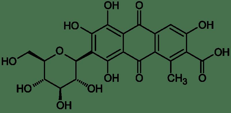 Estructura del ácido carmínico