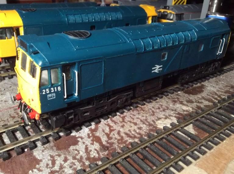 Azul monástico empleado en modelismo ferroviario