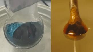 Los científicos transformaron el amoníaco en un bronce metálico. (Crédito de la imagen: Phil Mason)