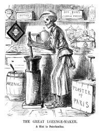 """""""El gran fabricante de pastillas"""", John Leech, 1858."""
