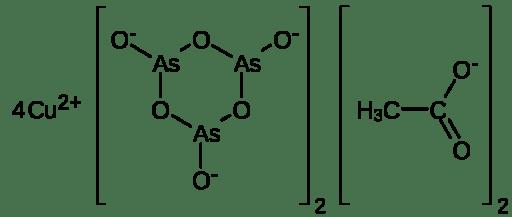 Estructura química del verde de París