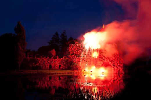 El volcán artificial en el corazón de Alemania vuelve a vivir