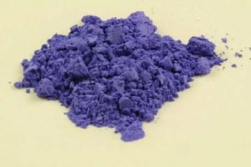 Muestra de purpura Han, de Kremer pigment