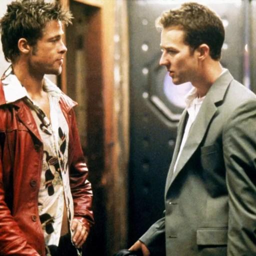Brad Pitt y Edward Norton en Fight Club (El club de la pelea)