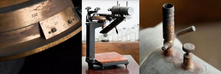 Imágenes del espectrómetro de Bragg que se encuentra en el museo Faraday