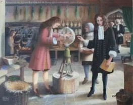 Robert Boyle en una demostración