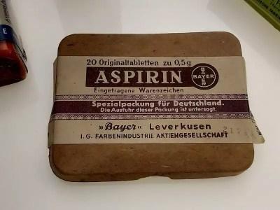 Empaque de aspirina