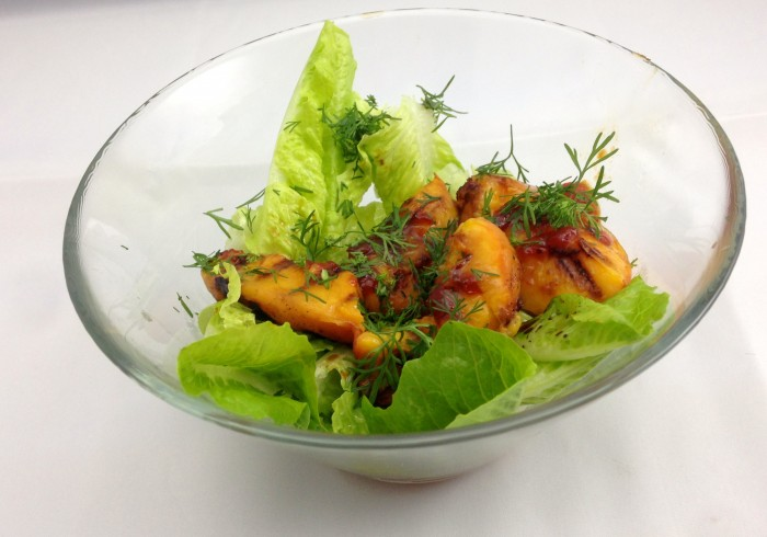 peaches 2 – a grilled peach and chilli jam salad