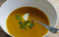 sweet potato and carrot thai soup