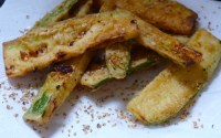fried zucchini with gomasio