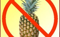 no pineapples