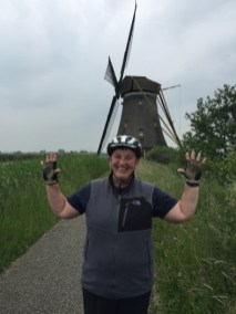 Me cycling in holland