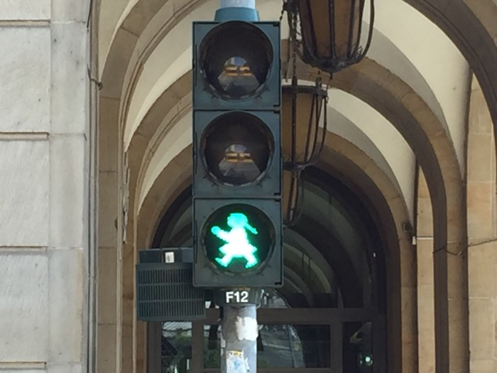 Old east German traffic signals