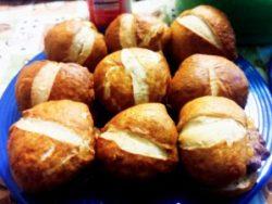 fresh baked pretzel buns