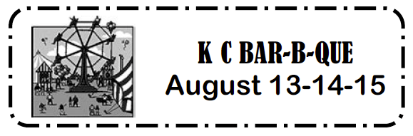 Annual K of C BBQ August 13 through 15