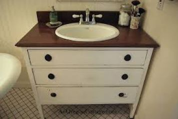 Bathroom Renovation - Antique Vanity - quinju.com