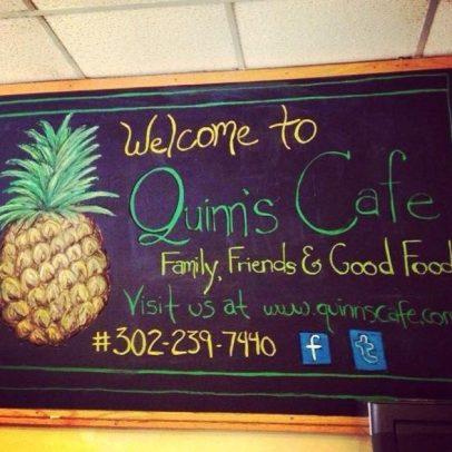 Quinns Cafe Chalk Board