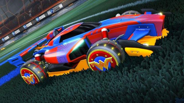 Carro Mulher Maravilha Rocket League