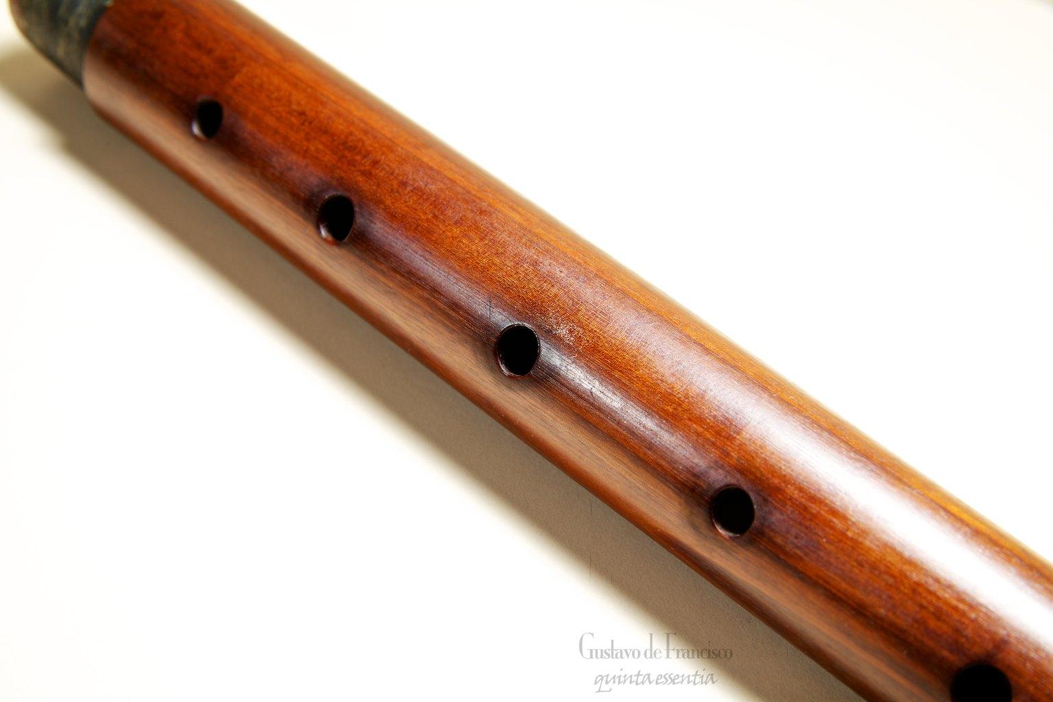 Flauta com sujeira nos furos