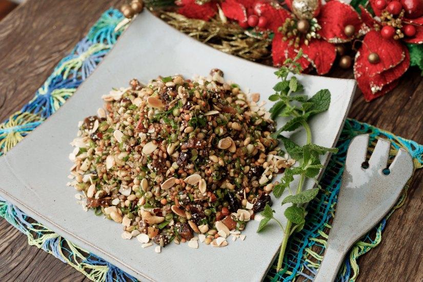 Salada de grãos, encomendas Ceia de Natal Quintana 2020