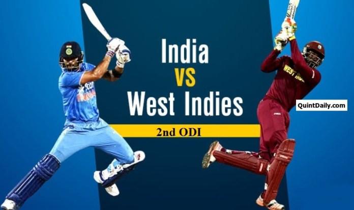 IND v WI 2nd ODI