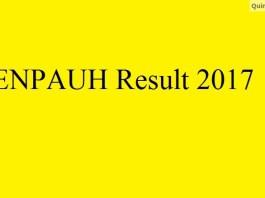 JENPAUH Results 2017