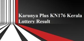Karunya Plus KN176 Kerala Lottery Result