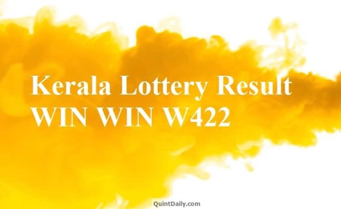 Kerala Lottery Result WIN WIN W422 Lottery Result