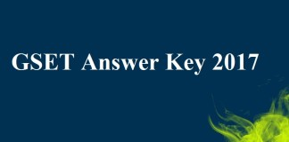 GSET Answer Key 2017